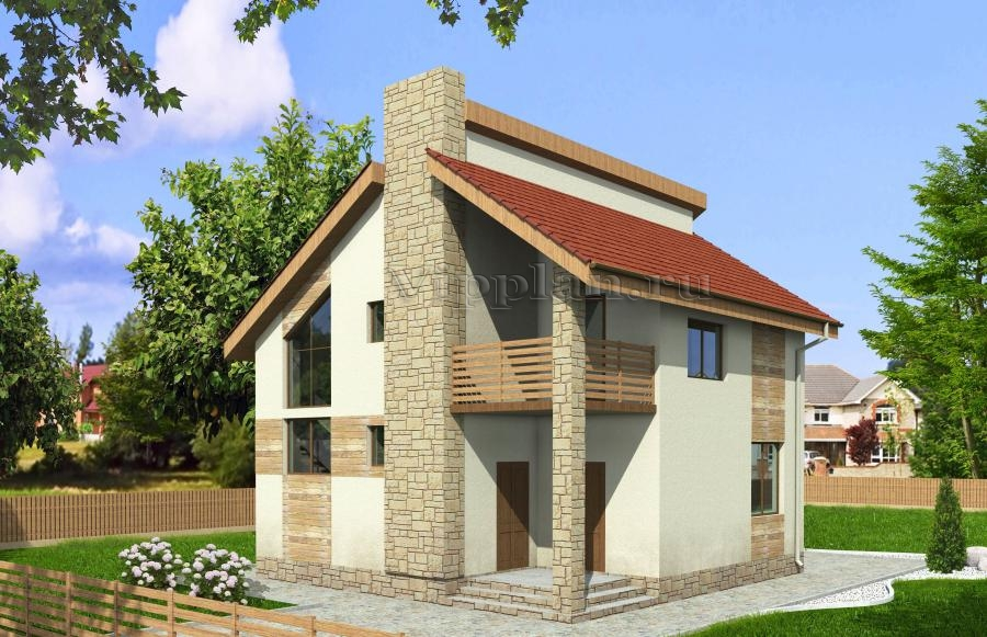 Дом с мансардой и балконом vg971 в красноярске - красноярски.